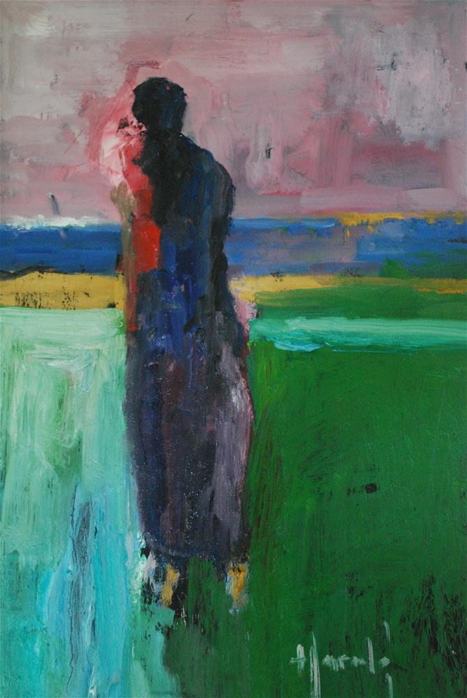 """Abstract Figure"" original fine art by Deborah Harold"