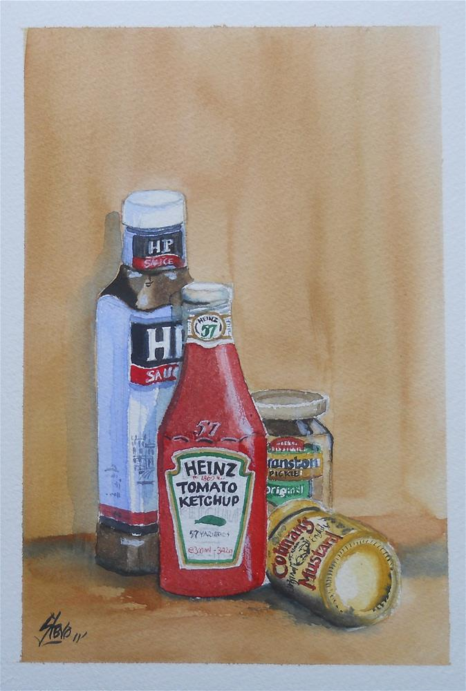 """Hand Luggage from Visitors"" original fine art by Martin Stephenson"