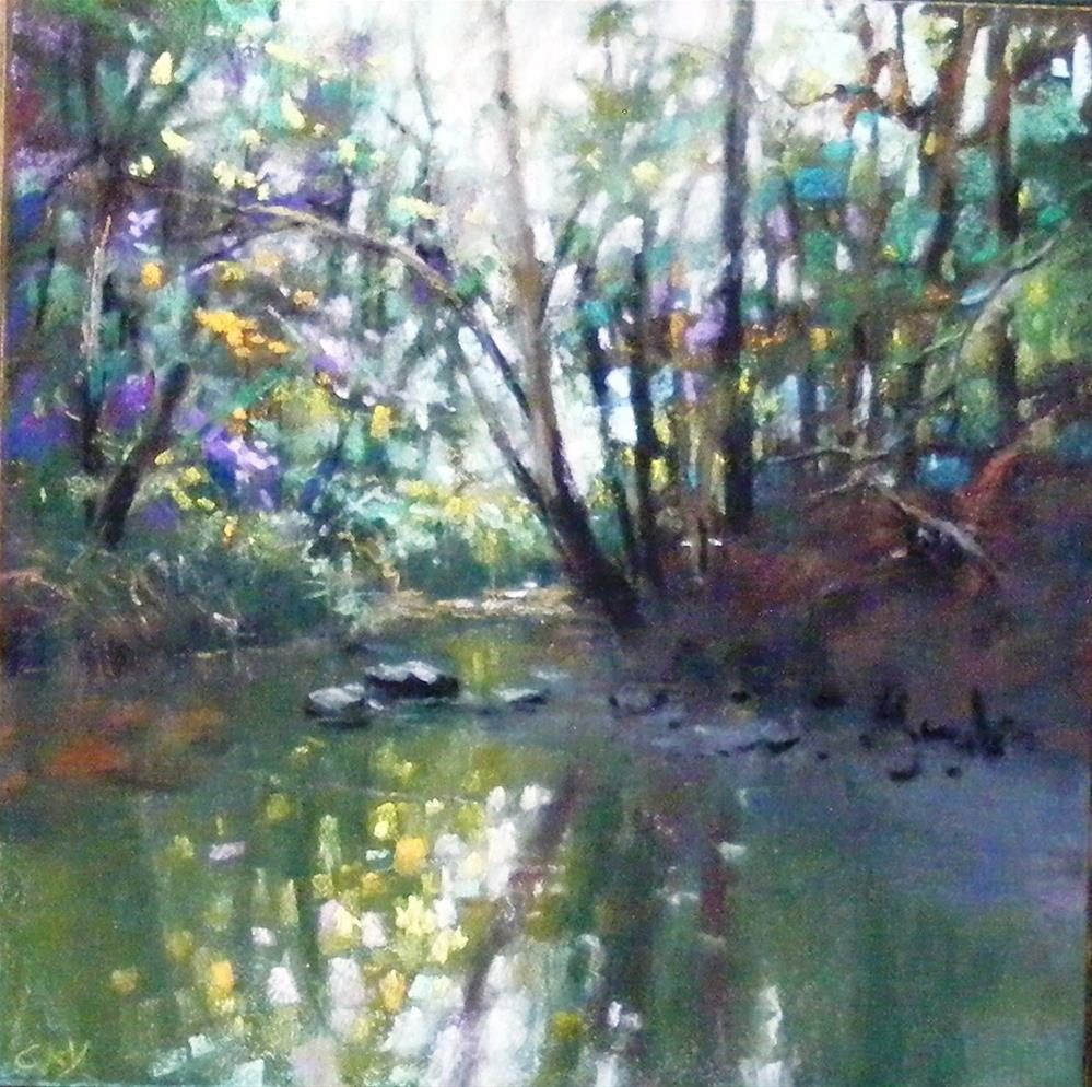 """Rhythmn of the stream"" original fine art by Celine K.  Yong"