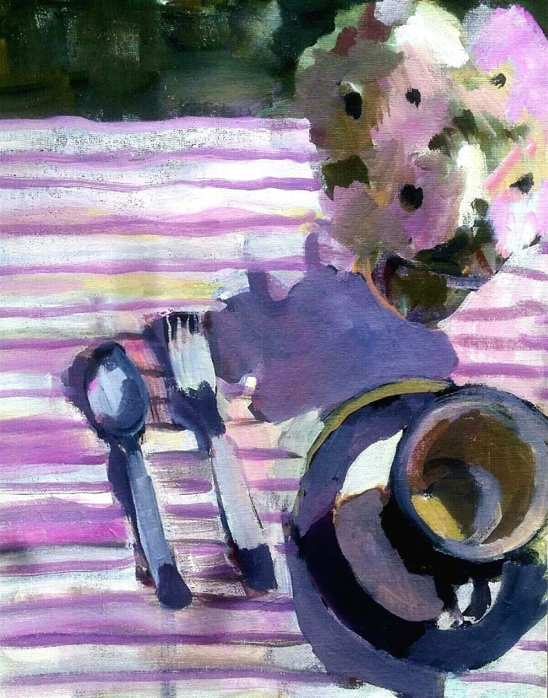 """Day for a Picnic"" original fine art by Liz Maynes"