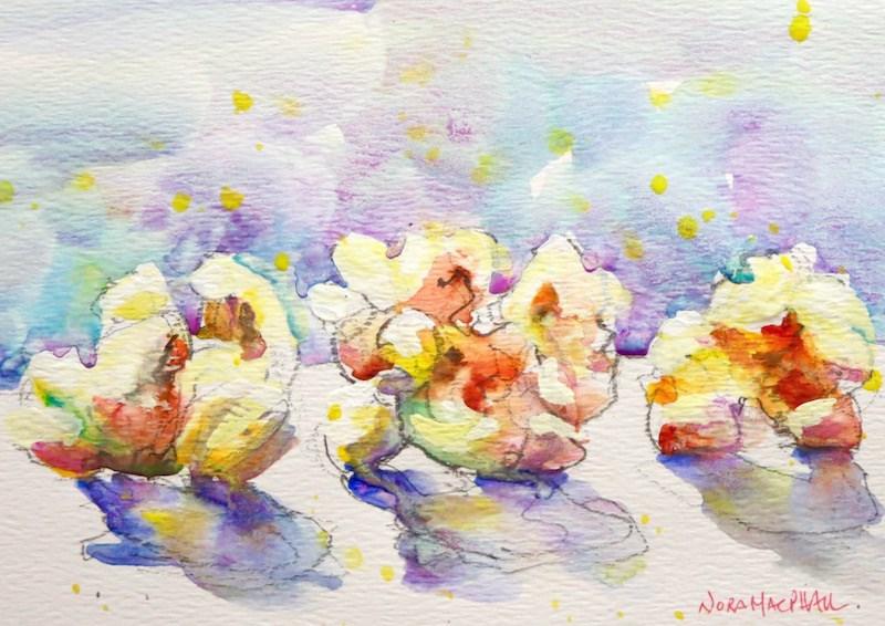 """extra butter"" original fine art by Nora MacPhail"
