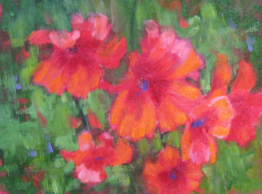 """Tuscan Poppies"" original fine art by Pam Holnback"