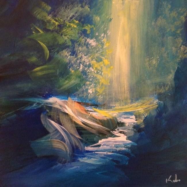 """Hear the Magic of a Name"" original fine art by David Kuhn"