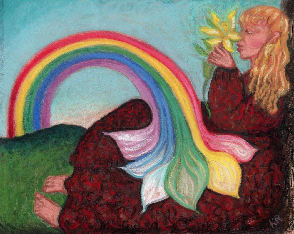 """Smell the Colors"" original fine art by Karen Roncari"