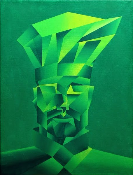 """Mark Adam Webster - Abstract Cubism Chef Acrylic Painting"" original fine art by Mark Webster"