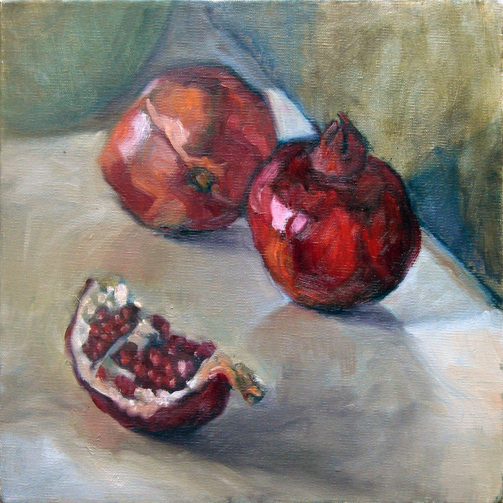 """Pomegranates"" original fine art by Myriam Kin-Yee"