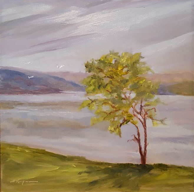 """Bent Tree at Smith Mountain Lake"" original fine art by Shelley Koopmann"