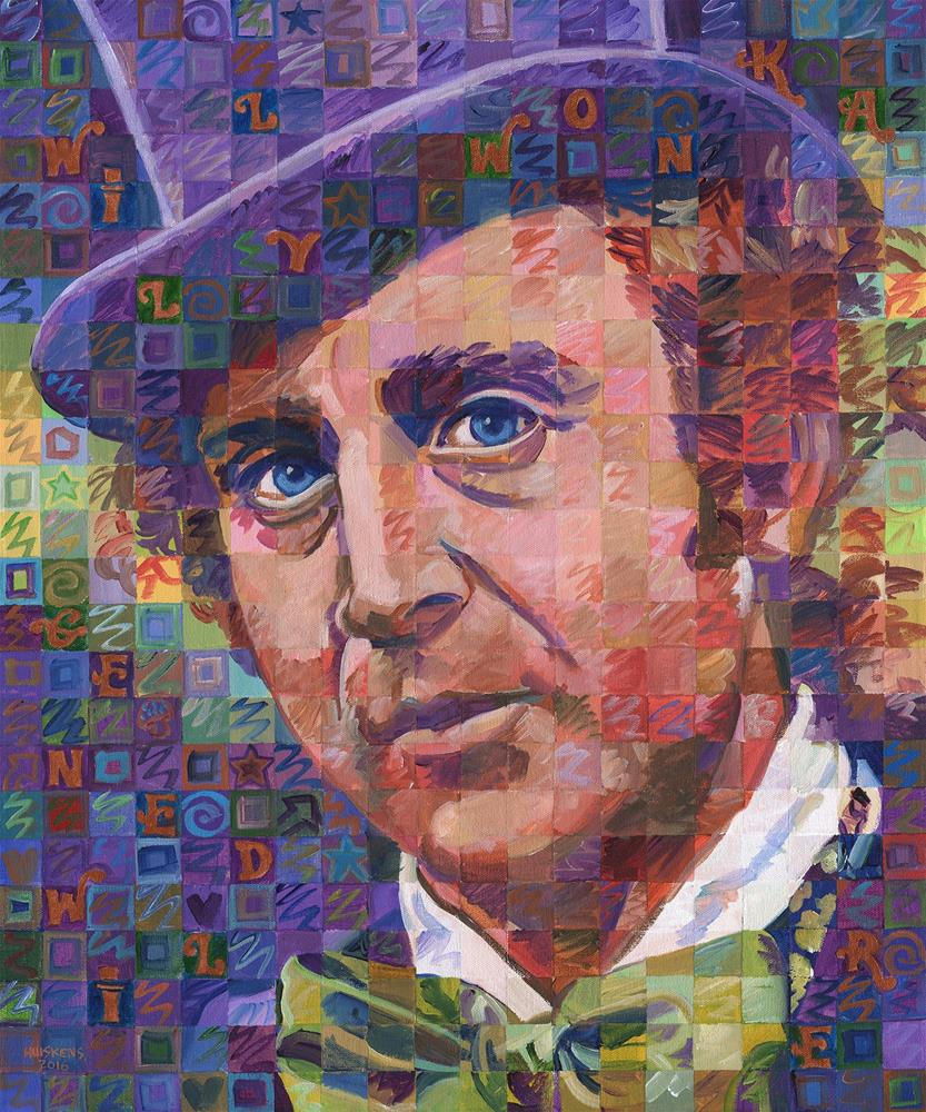 """Willy Wonka (Gene Wilder)"" original fine art by Randal Huiskens"