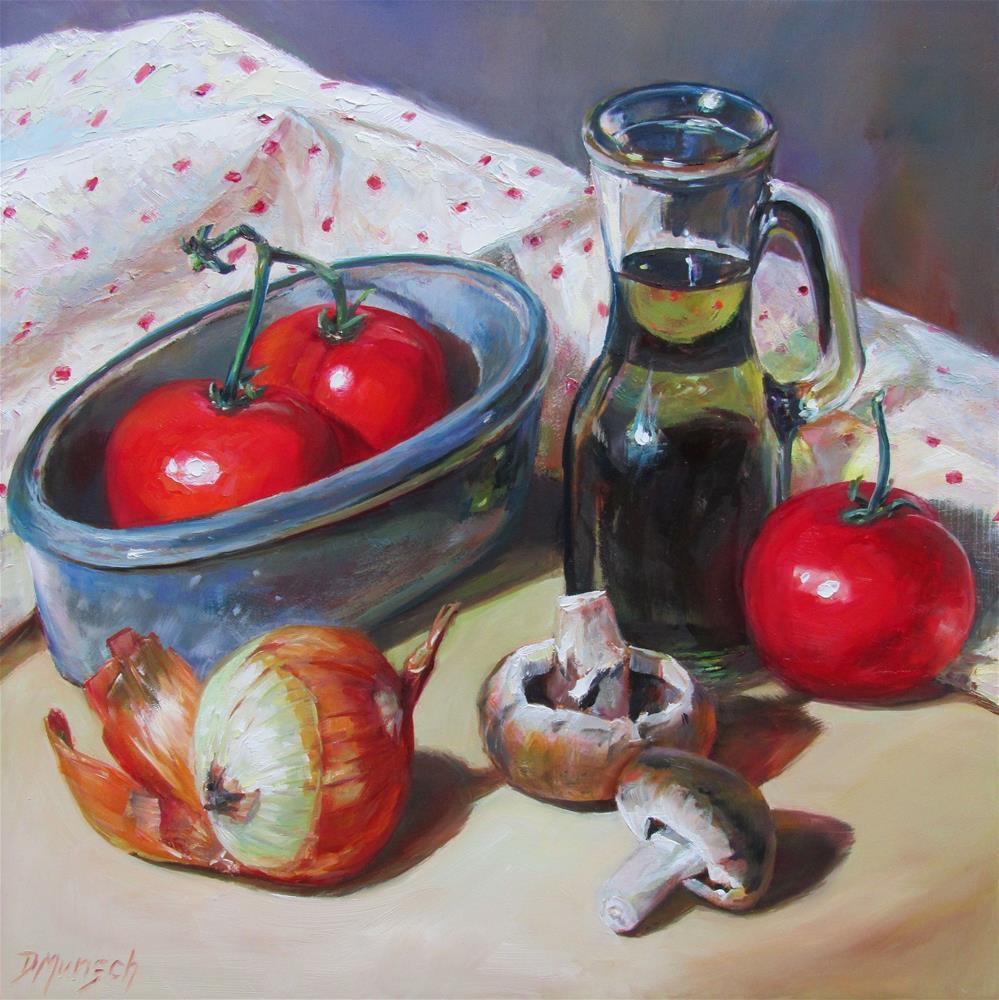 """Veggies"" original fine art by Donna Munsch"
