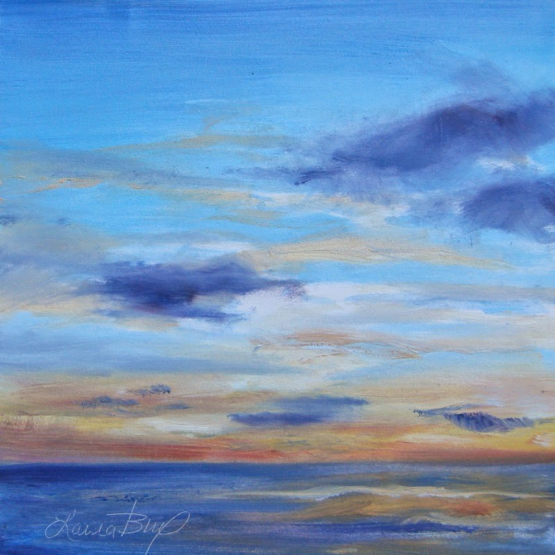 """Another Sunset - 293"" original fine art by Laura  Buxo"