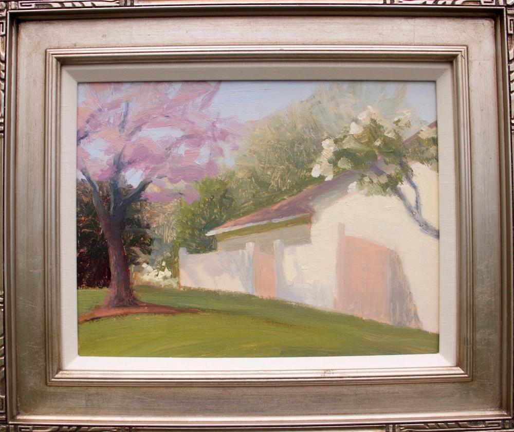 """#111 Spring on Dogwood Lane"" original fine art by Nancy Wallace"