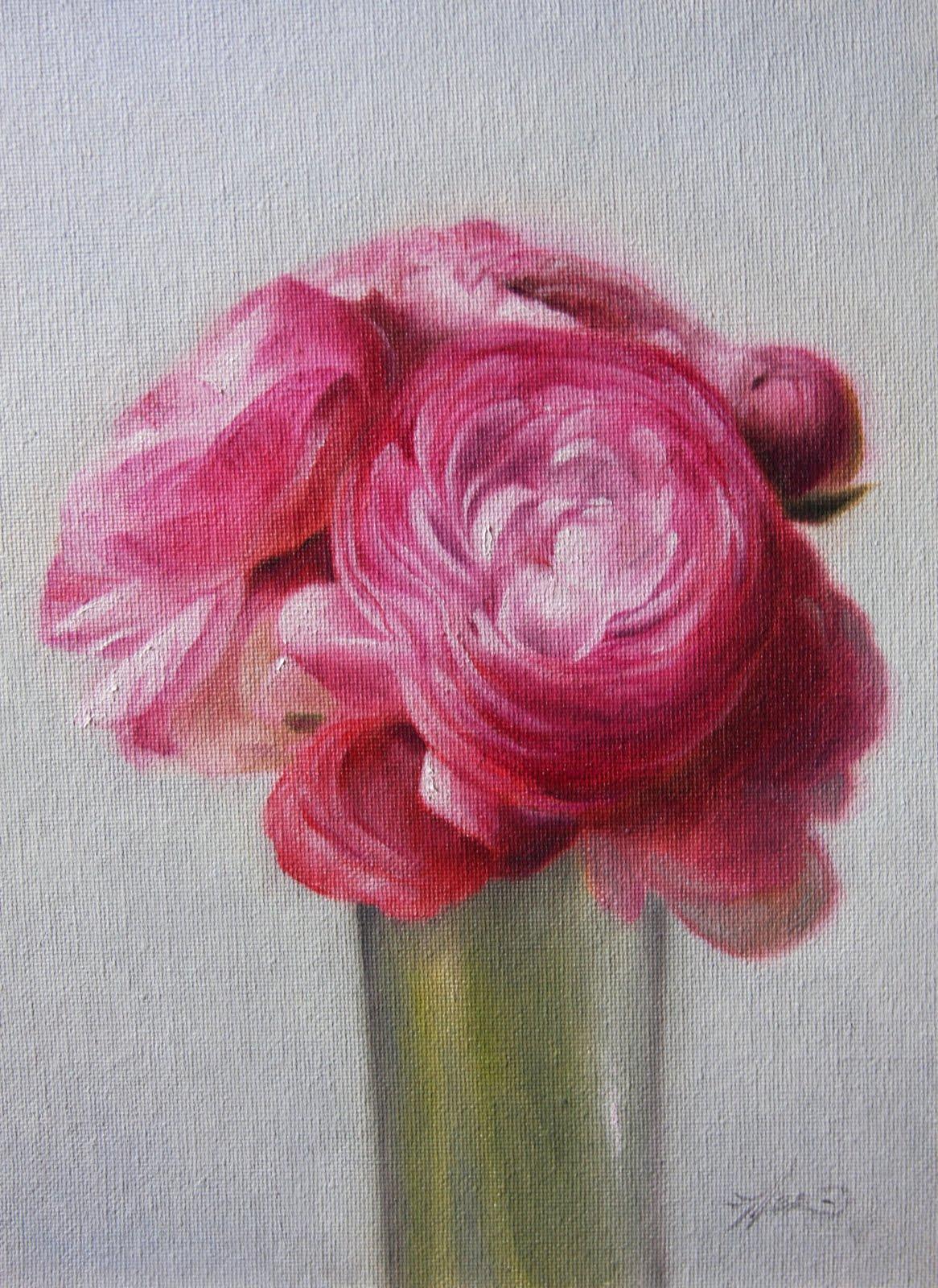 """Ranunculus"" original fine art by Jonathan Aller"