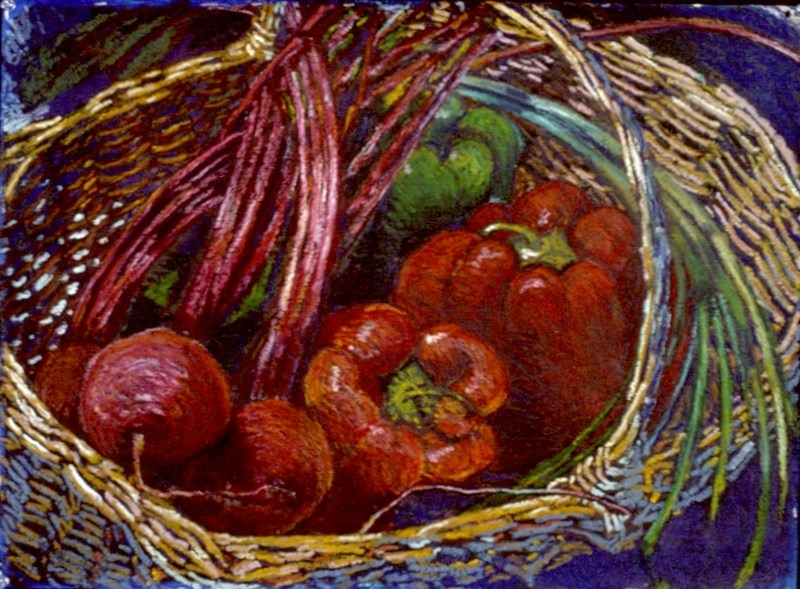 """""""Beets with Red Peppers"""" original fine art by Diane Paroda"""