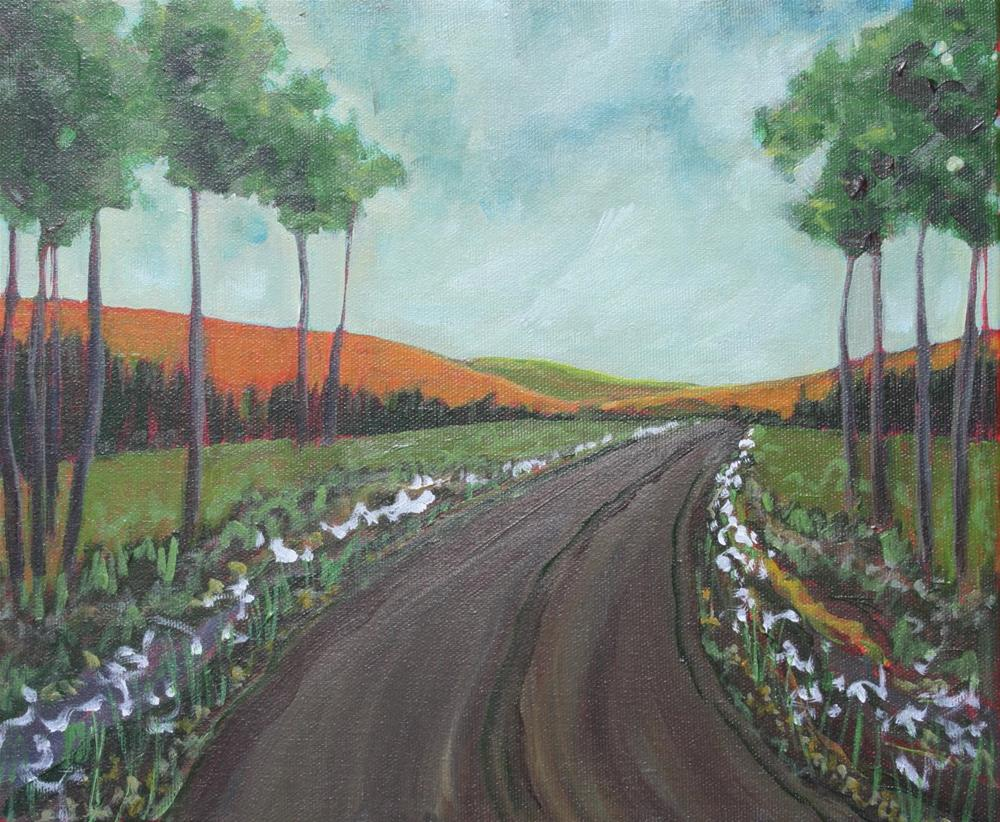 """Queen Annes Lace Road"" original fine art by Sage Mountain"