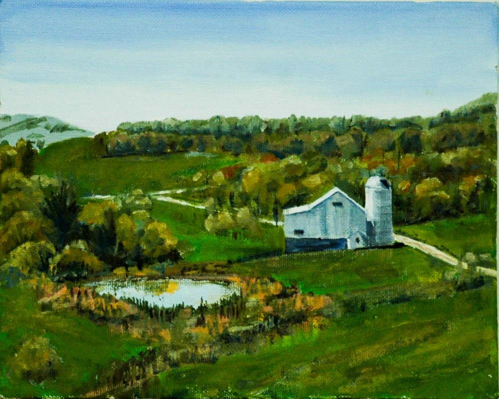 """Everson Farm"" original fine art by Ted Michaelis"