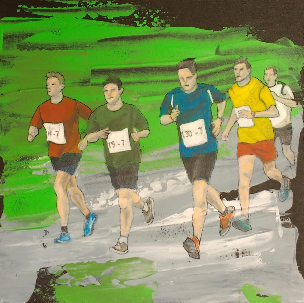 """""""marathon"""" original fine art by Sandra Woerner"""