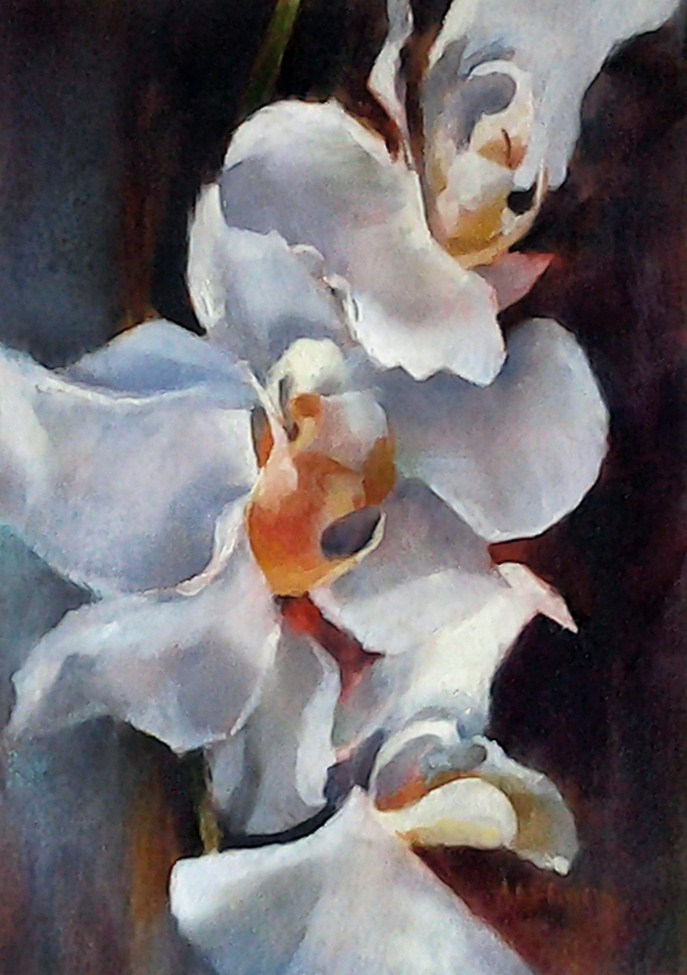 """Organic Orchid"" original fine art by A.K. Simon"