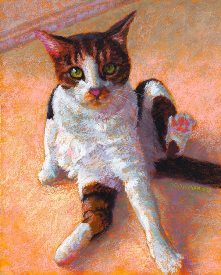 """Lucky the Cat"" original fine art by Rita Kirkman"