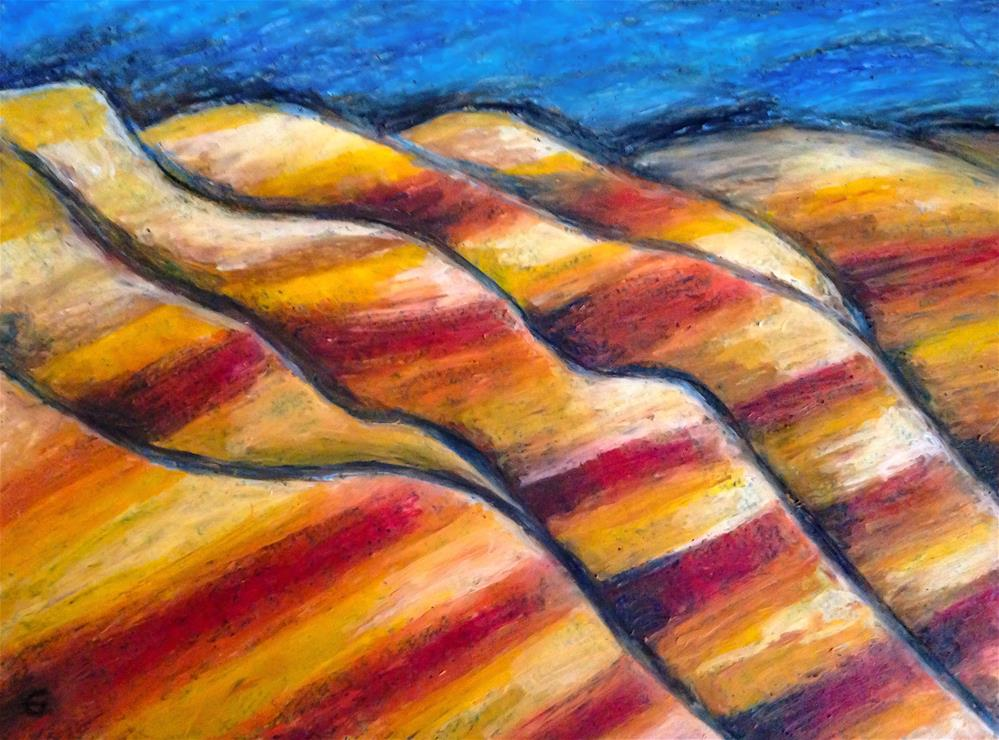 """Badlands 2, South Dakota"" original fine art by Giovanni Antunez"