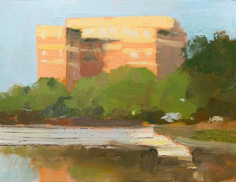 """Reflection Pond"" original fine art by Randall Cogburn"
