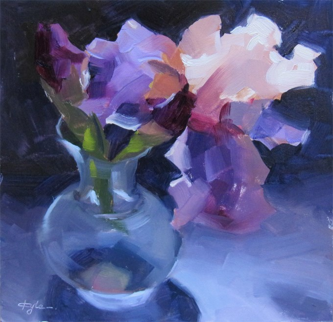 """Iris"" original fine art by Katia Kyte"