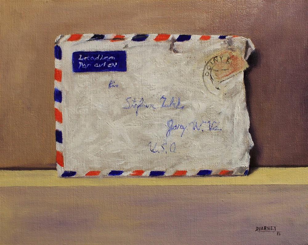"""Mysterious Letter"" original fine art by Daniel Varney"
