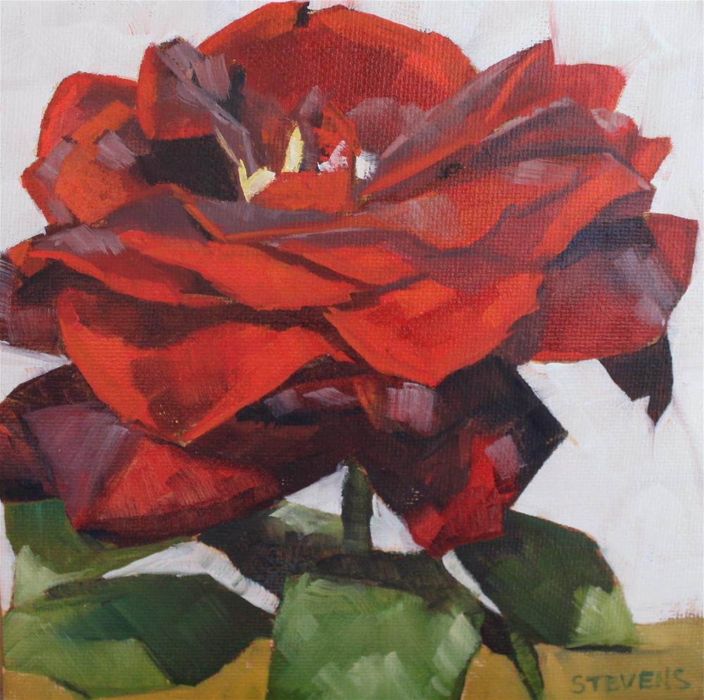 """Red Rose"" original fine art by Jamie Stevens"