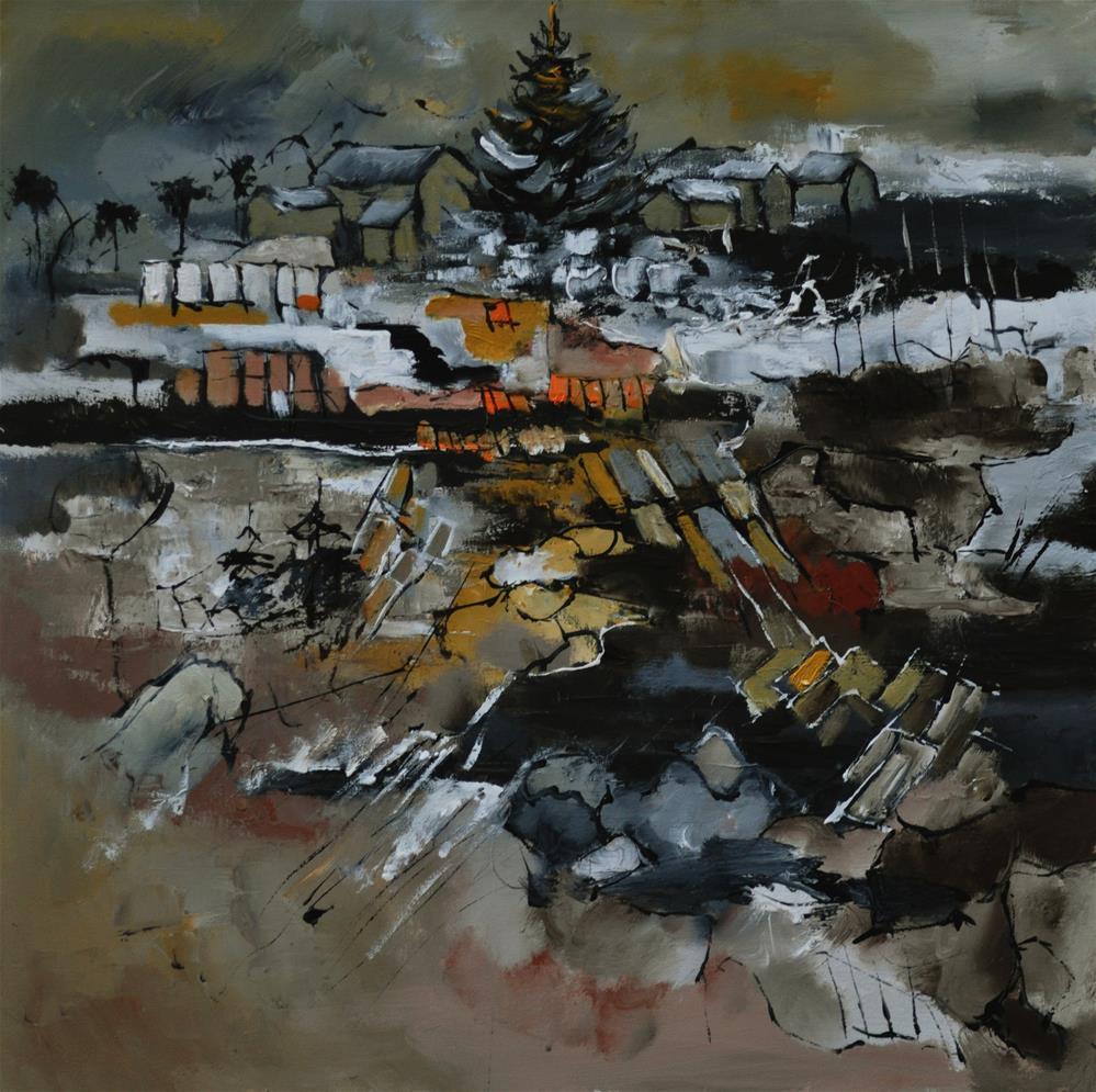 """Abstract landscape 77412120"" original fine art by Pol Ledent"