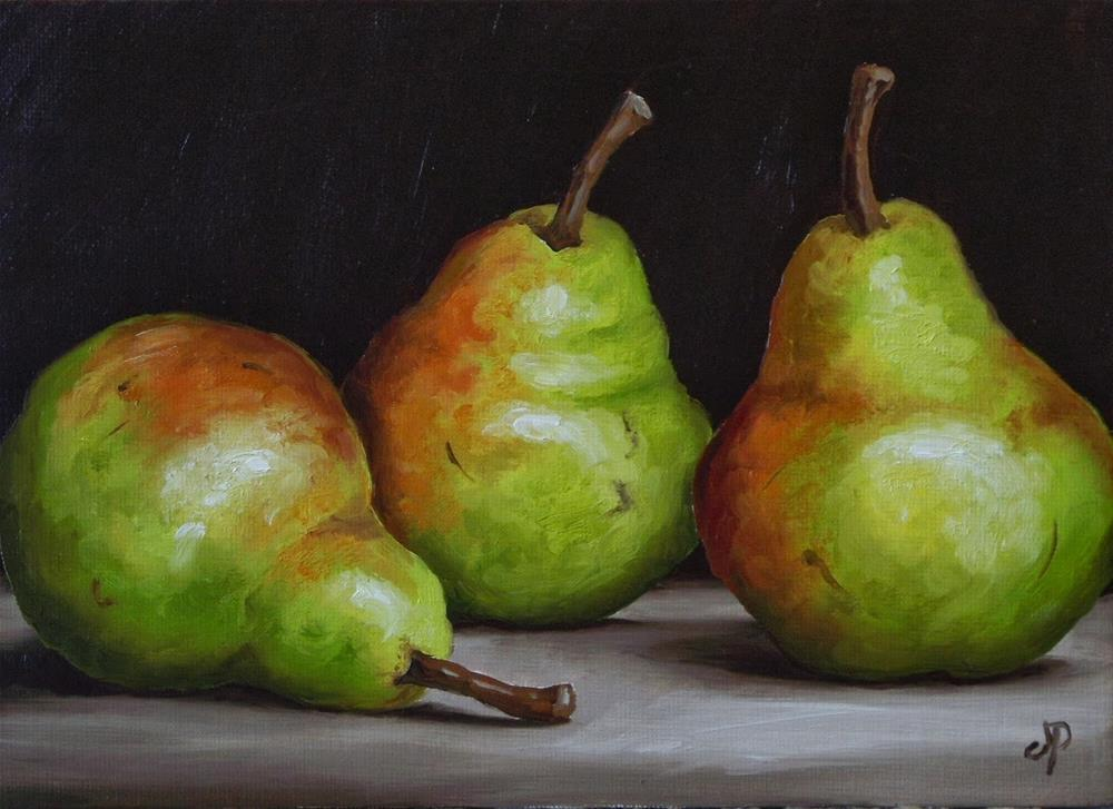 """Three Williams Pears"" original fine art by Jane Palmer"