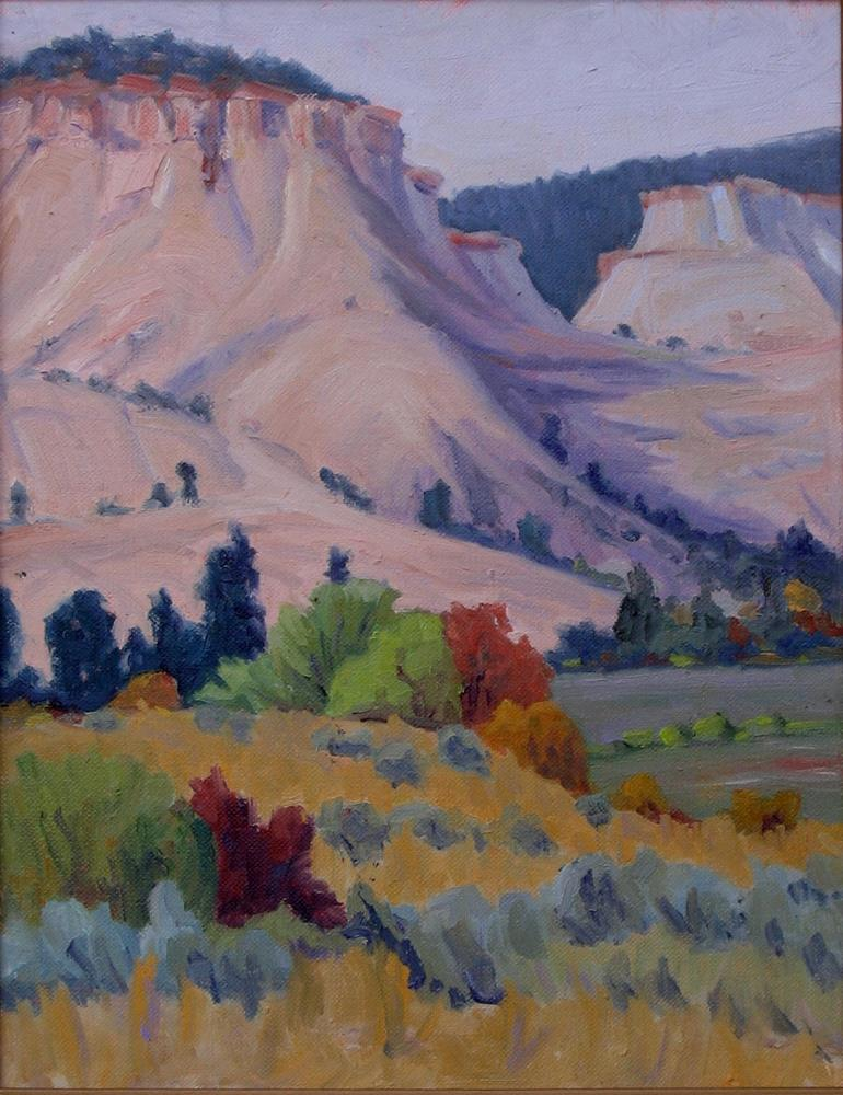 """""""View at Red Wing Ranch, near Boulder , Utah"""" original fine art by Mary  Kelley"""