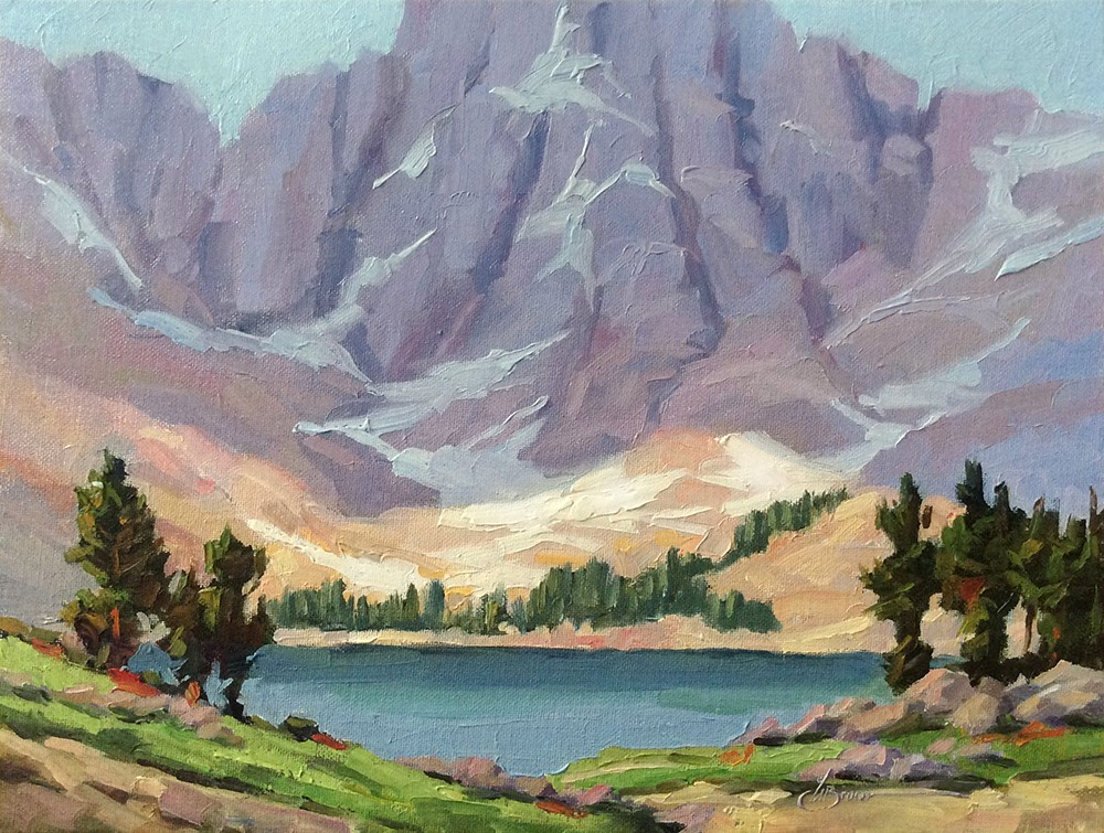 """""""SIERRA NEVADA MOUNTAINS"""" original fine art by Tom Brown"""