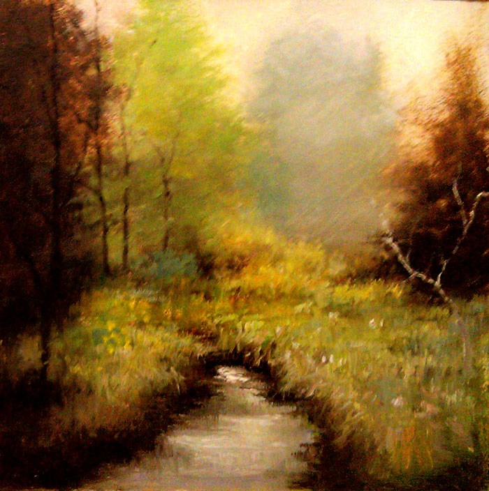 """Lonesome Creek"" original fine art by Bob Kimball"