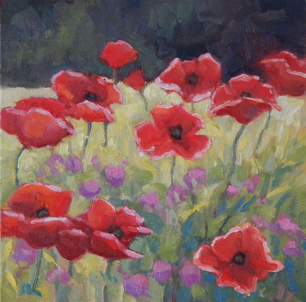 """Poppies"" original fine art by Lisa Kyle"