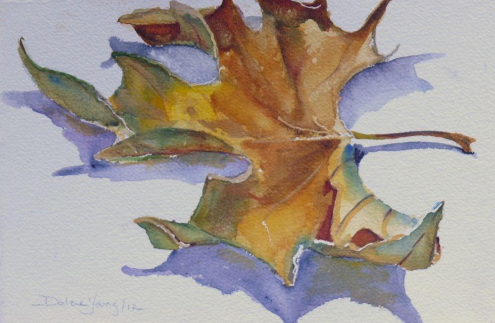"""""""556 Maple Leaf Study"""" original fine art by Darlene Young"""