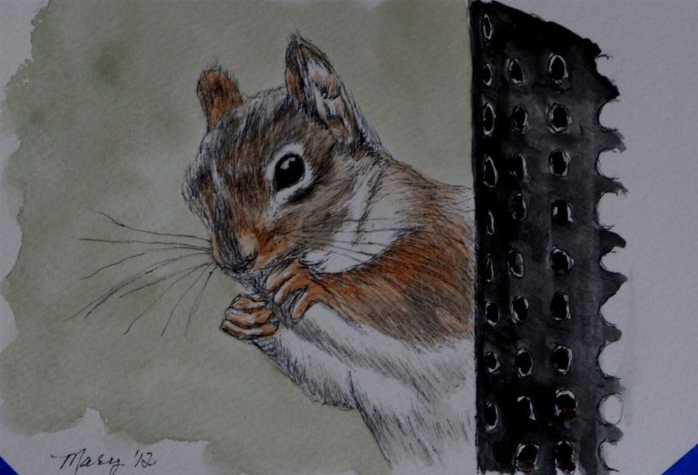 """Little Thief"" original fine art by Mary Datum"
