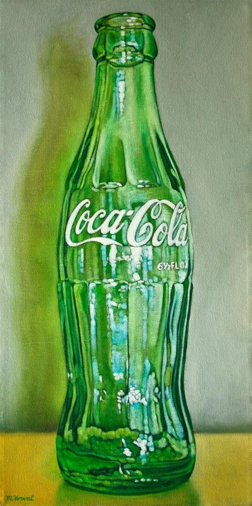 """Coke Bottle III"" original fine art by Margaret Horvat"