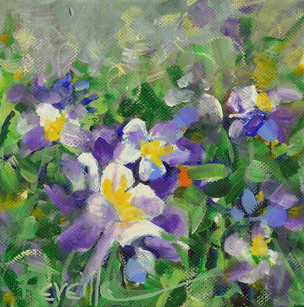 """Columbines For Bruce"" original fine art by Reveille Kennedy"