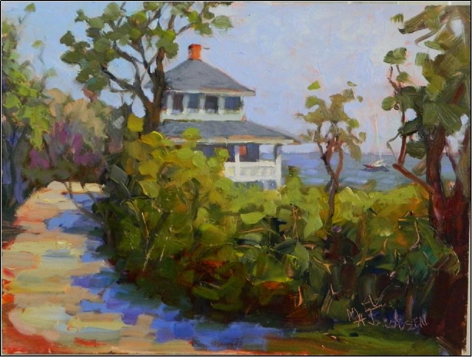 """Morning on Old Garden Path Road, 9x12, plein air, Rockport, Massachusetts, North Shore, Old Garden"" original fine art by Maryanne Jacobsen"