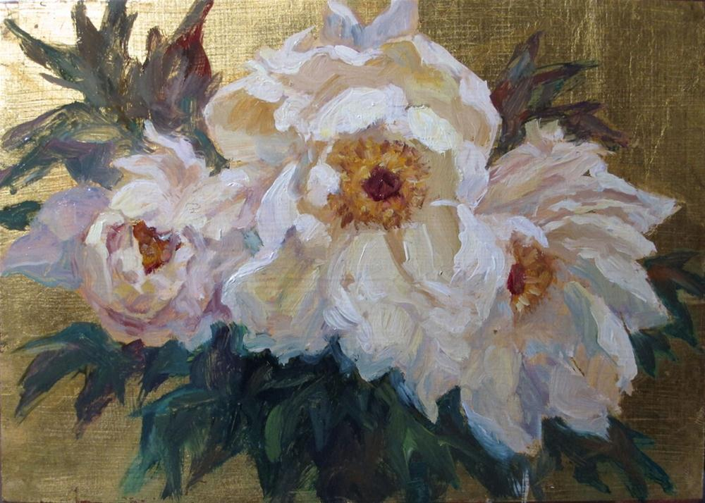 """Tree peonies"" original fine art by Myriam Kin-Yee"