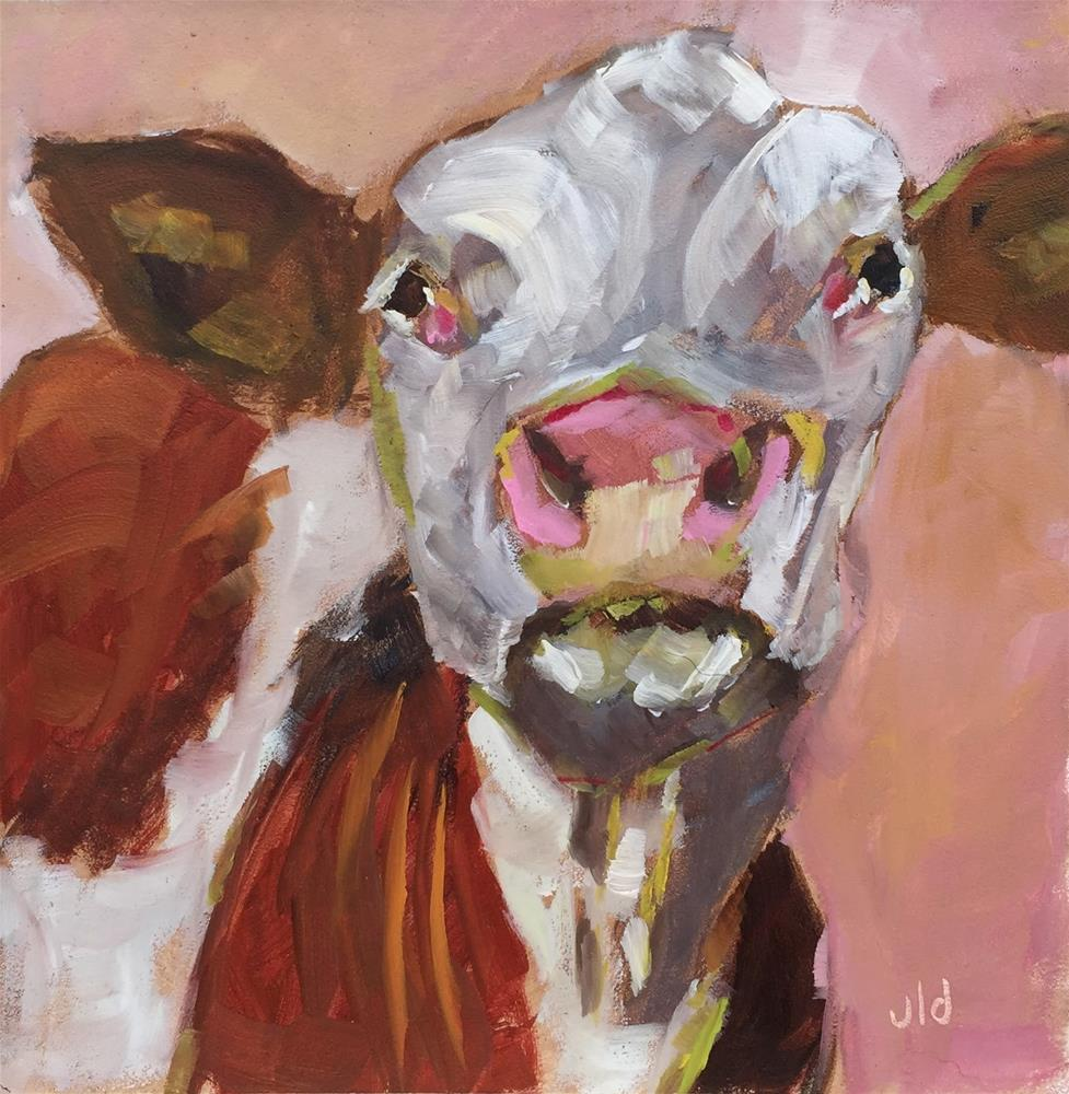 """Cow 60 Hoity Toity"" original fine art by Jean Delaney"