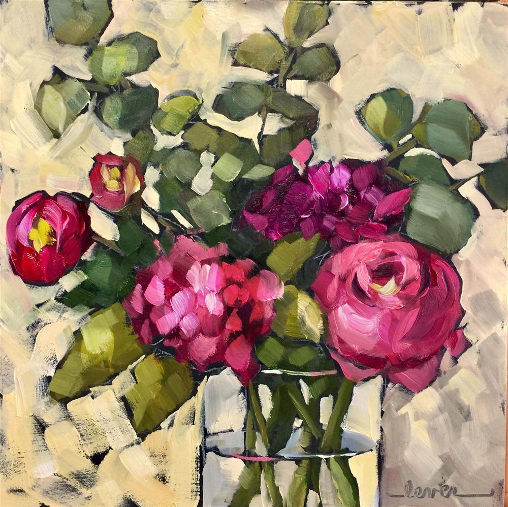 """Fuchsia Friends"" original fine art by Martha Lever"