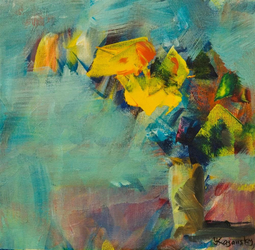 """Flowers, sketch"" original fine art by Yulia Kazansky"