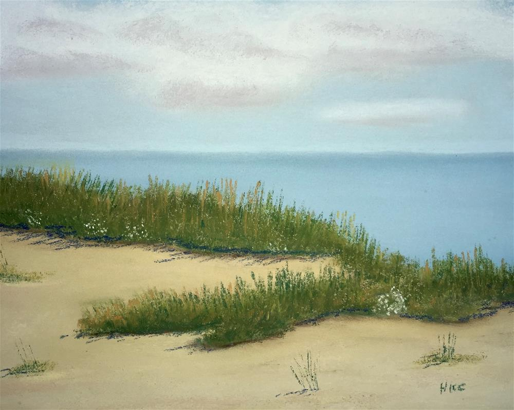 """Sand Dunes and the Gulf"" original fine art by Howard Clark"