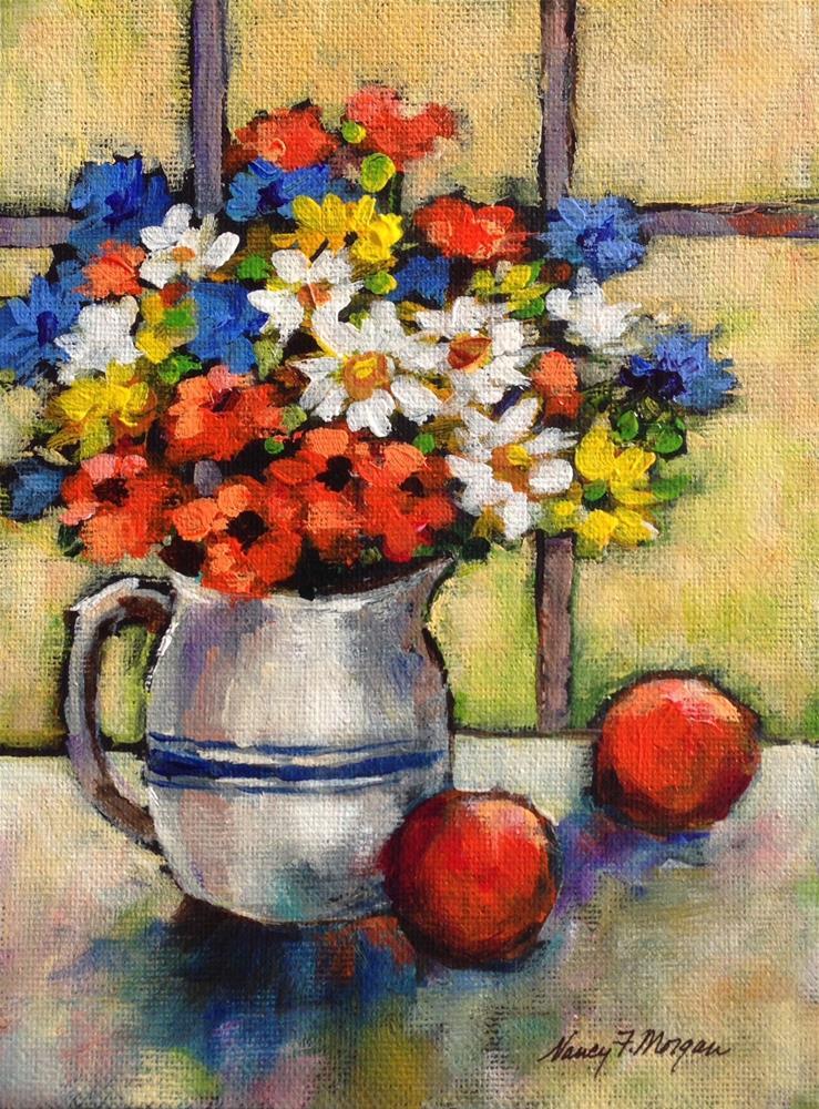 """Primary Colors"" original fine art by Nancy F. Morgan"