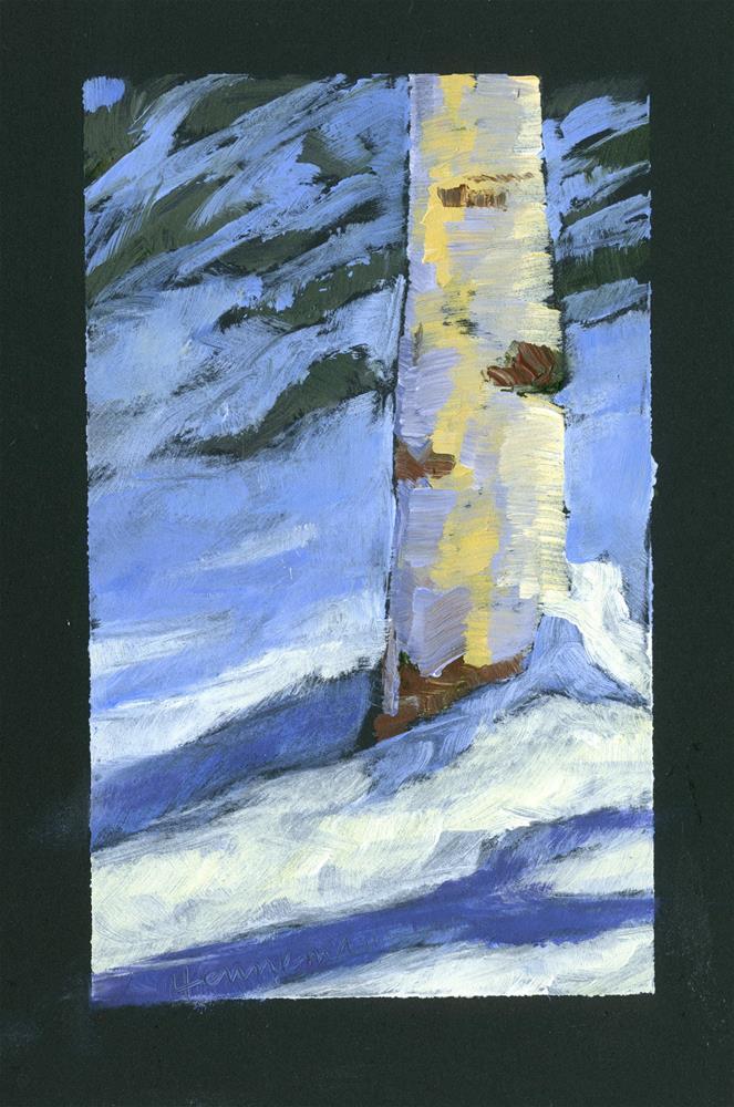 """""""Birch on Black"""" original fine art by Eileen Hennemann"""
