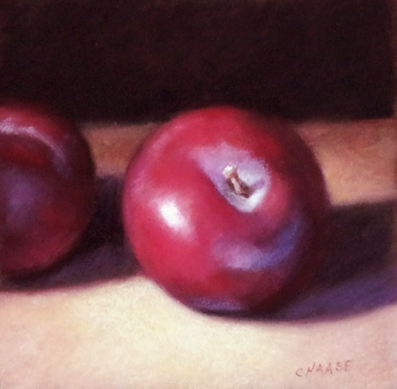 """Red Plums"" original fine art by Cindy Haase"