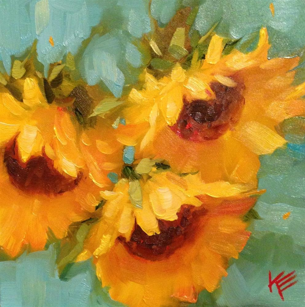 """Sunflowers II"" original fine art by Krista Eaton"