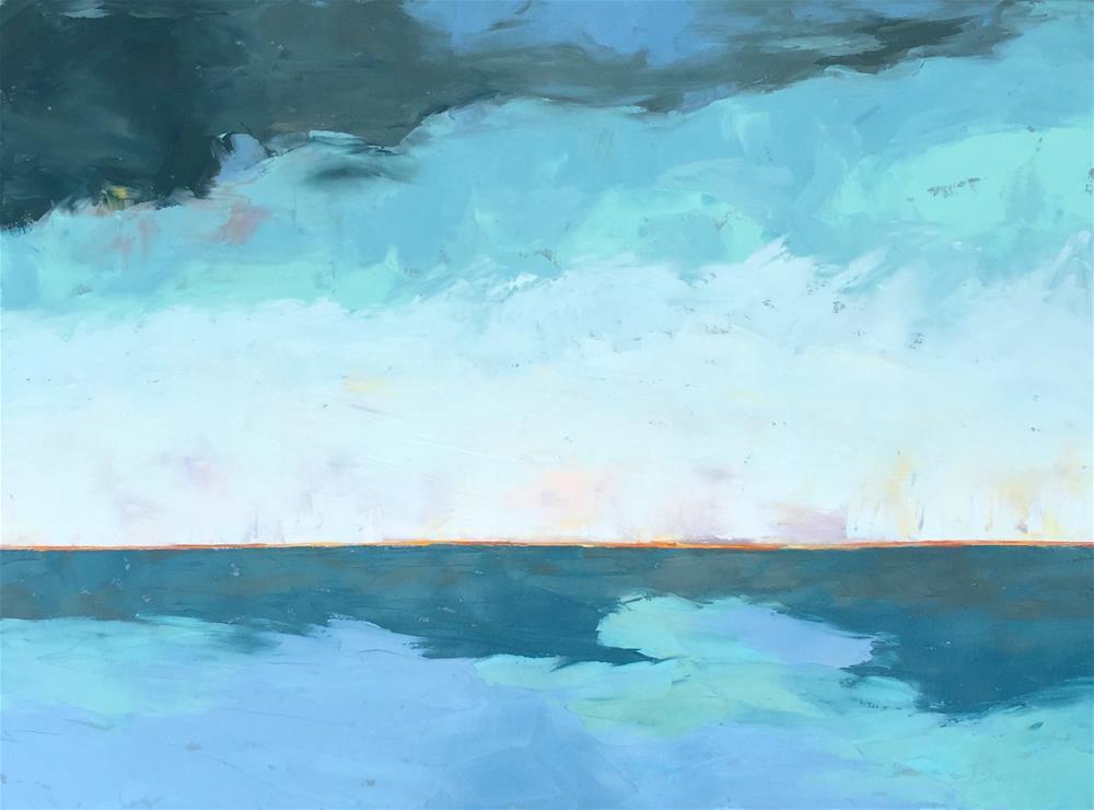"""Pacific Blue"" original fine art by Janet Bludau"