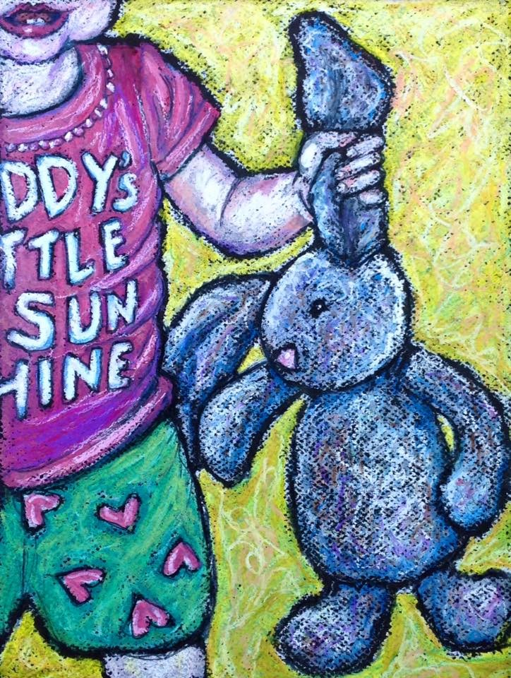 """Daddy's Little Sunshine"" original fine art by Ande Hall"