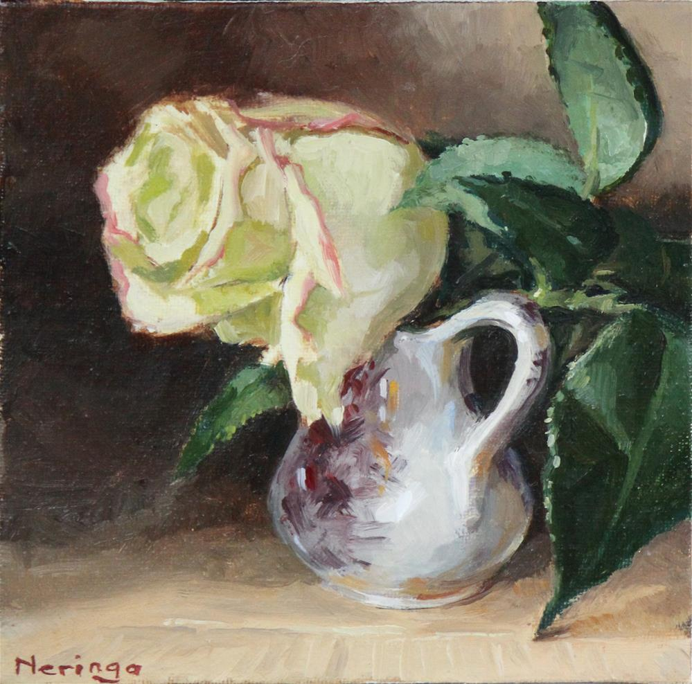 """""""Lonely Rose"""" original fine art by Neringa Maxwell"""